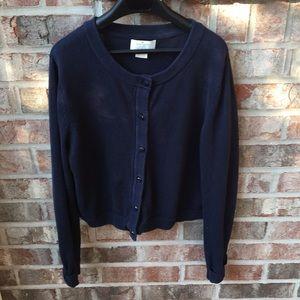 Kate Spade girls navy blue cardigan Size 12Y
